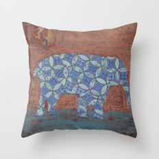 Elephant Dreams Throw Pillow