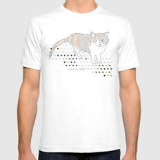 calico cat Mens Fitted Tee White SMALL