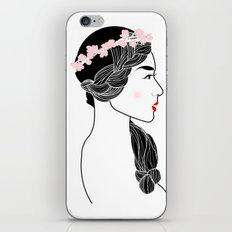 Cherry Blossom Girl. iPhone & iPod Skin