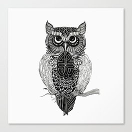 Patterned Owl Canvas Print