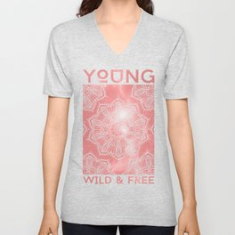 Young Wild & Free Galaxy Print Unisex V-Neck
