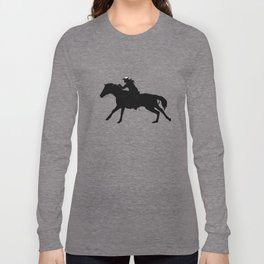 Cowgirl - Horse Rider Long Sleeve T-shirt