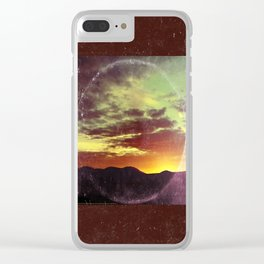 American Sunset As Vintage Album Art Clear iPhone Case