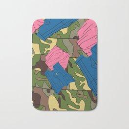 Army Girl Clothing Bath Mat