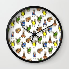 Squirrels with Jumpers Wall Clock