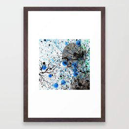 Ink & Bubbles Framed Art Print