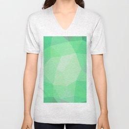 Smaragd polygonal pattern Unisex V-Neck