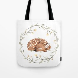 Wildflower Fawn Tote Bag
