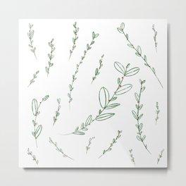 Mistletoe Winter Berry Metal Print