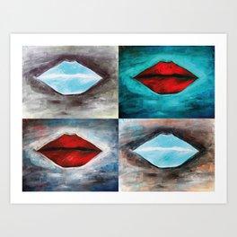 Lips Collage  Art Print
