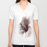 hibiscus V-neck T-shirts featuring Hibiscus by Lynn Bolt
