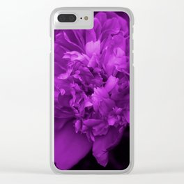Peony In Ultra Violet Color #decor #society6 #buyart Clear iPhone Case