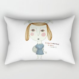 The Great Rabbit Pretender. Rectangular Pillow