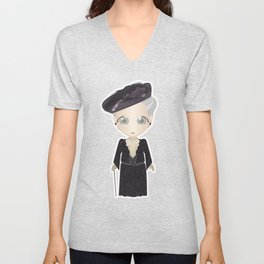 Violet Crawley, Dowager Countess of Grantham Unisex V-Neck