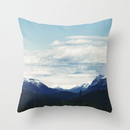 Canadian Rocky Mountains Landscape Photograph Throw Pillow