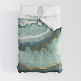 Gold Turquoise Agate Comforters