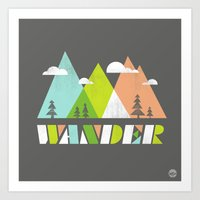 wander Art Prints featuring Wander  by Jenny Tiffany