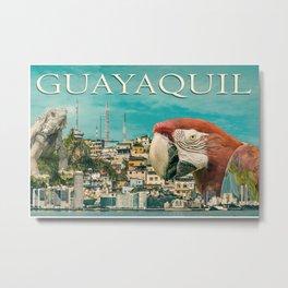 Guayaquil Touristic Postal Design Metal Print