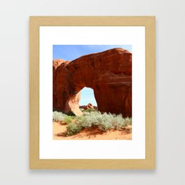 At The End Of The Trail - Pine Tree Arch Framed Art Print