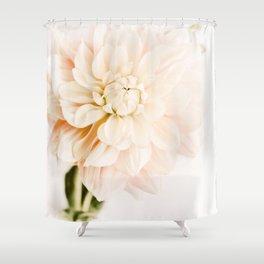 Vanilla Truffle Dahlia Shower Curtain