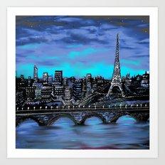 Eiffel Tower ~ Paris France Art Print