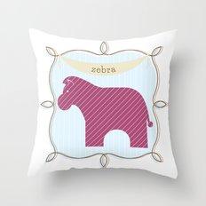Fun at the Zoo: Zebra Throw Pillow