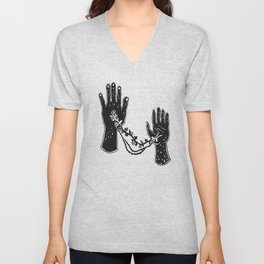 Joined Hands Unisex V-Neck