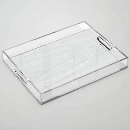 Gray Weathered Wood Acrylic Tray