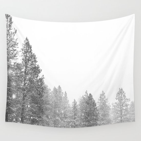 Winterland // Snowy Landscape Photography White Out Winter Pine Tree Artwork by a88mountainstate
