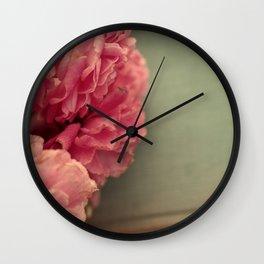 Wild Roses (2) Wall Clock