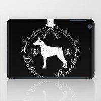 doberman iPad Cases featuring Doberman Black by Wesley Geral