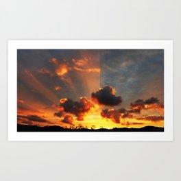 Coromandel Sunset Art Print