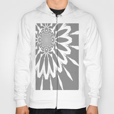 Gray Modern Flower Hoody