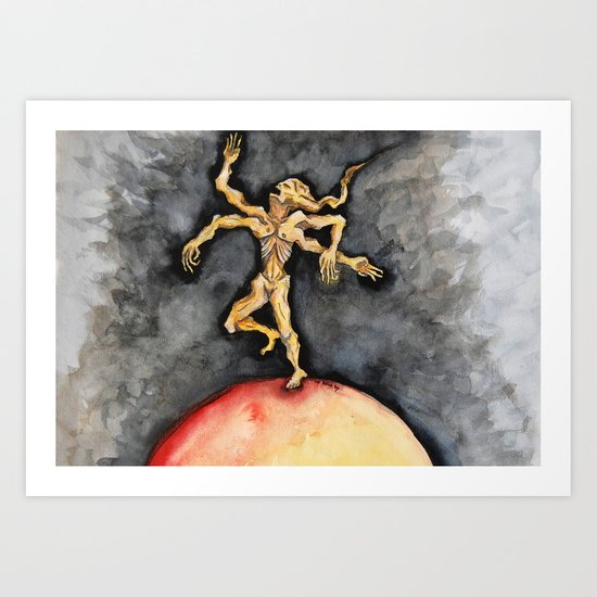 The Burning World Art Print