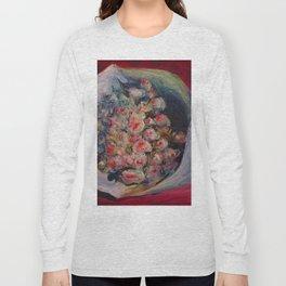 """Auguste Renoir """"Bouquet on a Chair (Bouquet dans une Loge)"""" Long Sleeve T-shirt"""
