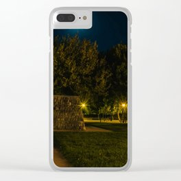 Moon and the garden.... Clear iPhone Case