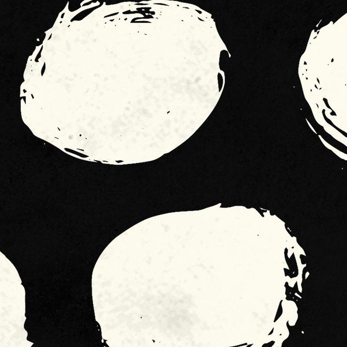 Trendy Cream Polka Dots on Black Leggings