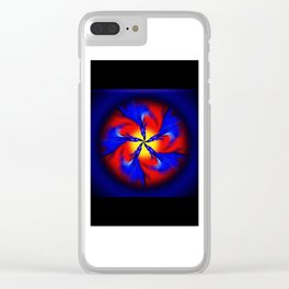 Abstract Perfection 34 Clear iPhone Case