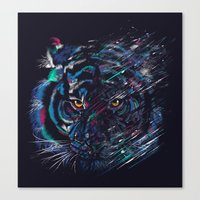 fierce Canvas Prints featuring FIERCE by dan elijah g. fajardo