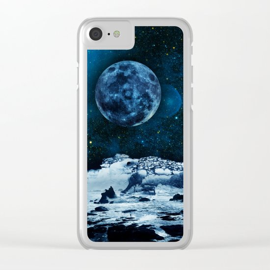 Blue Traveler Clear iPhone Case