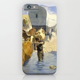 Frederic Remington - The Emigrants - Digital Remastered Edition iPhone Case