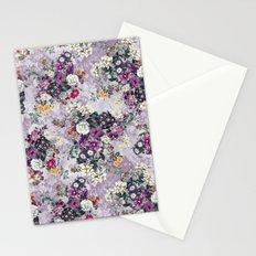 Botanical Flowers Purple Stationery Cards