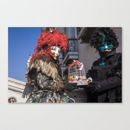 Carnival masks in Venice, Italy Canvas Print
