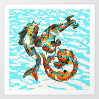 Three Koi Carp Art Print