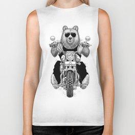 carefree bear Biker Tank