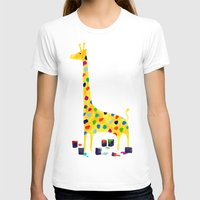 number T-shirts featuring Paint by number giraffe by Picomodi