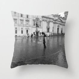 Purple and Blue in Rome Throw Pillow