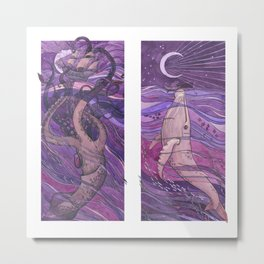 Violent and gentle sea Metal Print