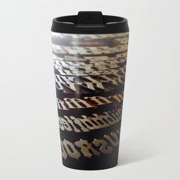 Wood Type  Metal Travel Mug
