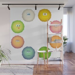 Funny emoticons Wall Mural